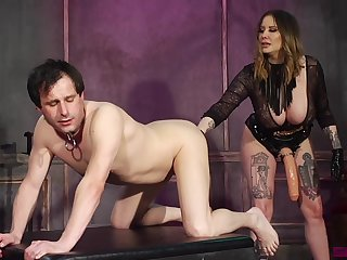 Kinky Maitresse Madeline Marlowe craves for a friend's fat and strong cock