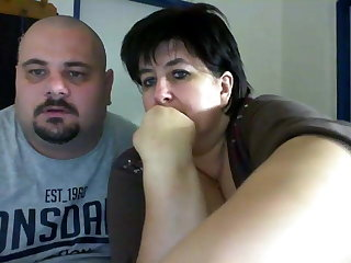 Fat couple on webcam