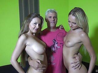 Smooth foursome take sexy pornstars Candy Alexa and Ivana Sugar