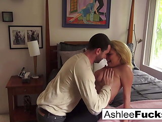 Ashlee and James fuck all roughly the house