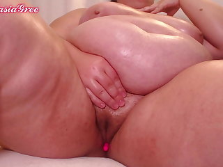 Hot added to naked bbw oiled up