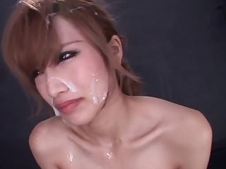 Small boobs amateurish Erika Shibasaki gets mouth fucked + bukkake