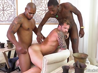 Black studs Deepdicc and Lawrence West break in new privilege Riley Mitchel