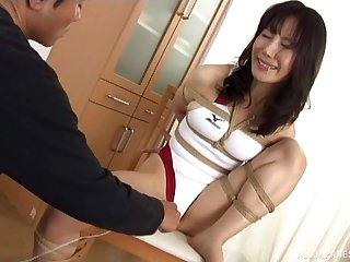 Oddball Japanese dude secured alongside his sexy Japanese girl for sex