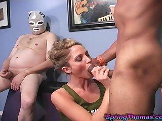 Hardcore interracial fucking with knavish dig up lover Spring Thomas