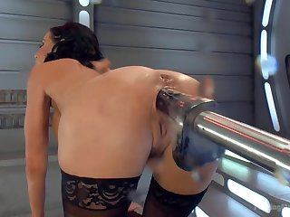 Big-titted-squirting-anal-milf Veronica Avluv challenges Making out Machines