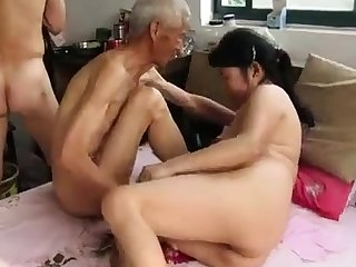 Asian Grandpas close to Action
