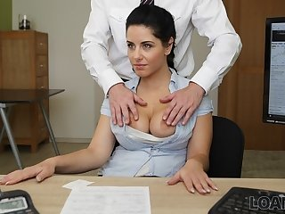 LOAN4K. Crazy sex more than the desk in alteration election