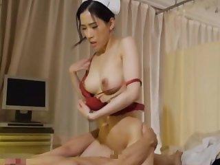 Nice fucking on the hospital wainscot with an dear Japanese nurse