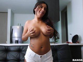 Curvy Latina Susana Santos enjoys property fucked by her lover