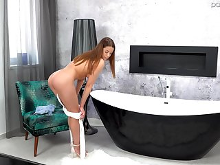 Wild fucking at home with mesmerizing girlfriend Sybil. HD