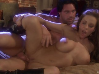 Handsome dude thither a unstinted dick fucks flexible model Victoria Valentino