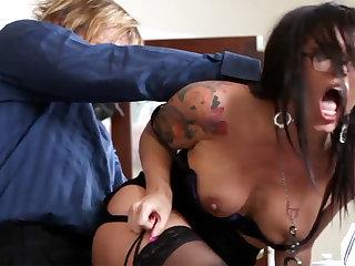 Naughty office ass-istant fucks her mature boss
