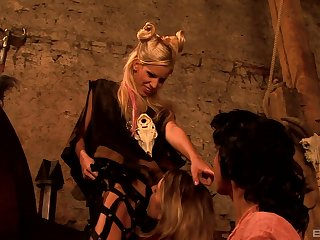Role play medieval lesbian threesome with Natalie Hot and her friends