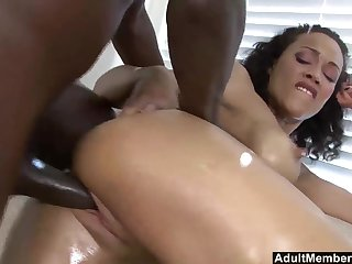 Cute ebony babe Cassidy Clay loves to get her mouth filled with cum