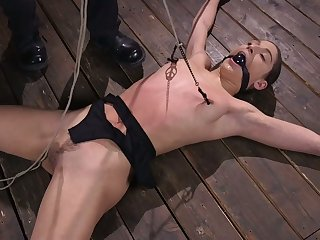 Emotional naked drab Abella Danger deserves to be crucified and hogtied