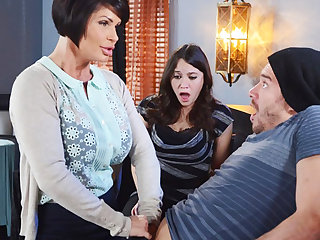 Horny mom make a gift to will not hear of wet pussy