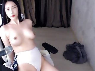 Dominate Korean stunner oils her ass