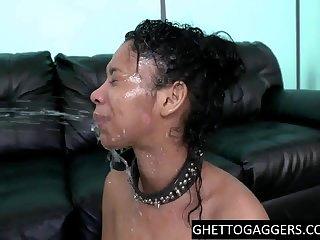 Ebony 1 old humiliated hardcore
