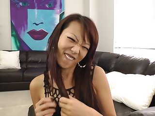 Skinny Asian Secretary Needs Her Bustle