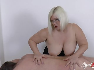Hardcore mature lady Lacey Starr and horny soldier guy sexual intercourse