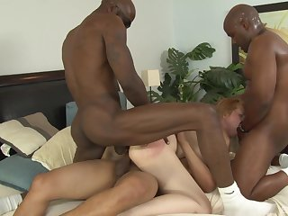 Horny black bobtail fuck Kirsten Kitz in poikilothermic gang bourgeon