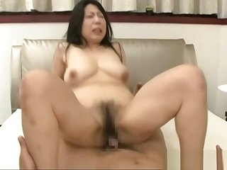 Horny mature Asian babe, Rumiko Yanagi fucked into a creampie