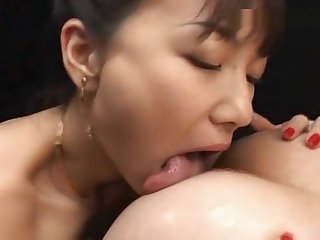 Asian lesbos cum make mincemeat of