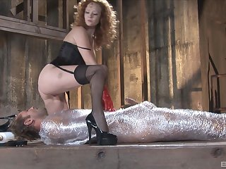 Bondage experience increased by role play are overpriced for Audrey Hollander