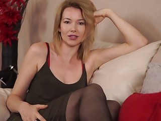 Auburn cutie Hannah Z looks good in lingerie while flashing will not hear of soul