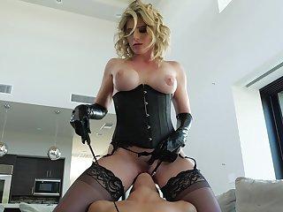 White vibrator derriere please the prurient desires of hot lesbian Emily Willis