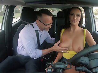Awesome Caucasian beauty Sofi Ryan uses her chunky knockers for titjob