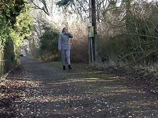Horny ass blonde Victoria discovers the joys be worthwhile for outdoor pissing