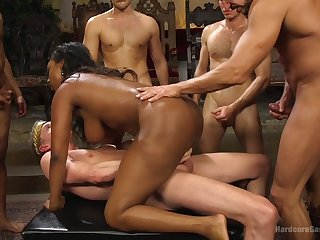 Nasty interracial for the prexy ebony