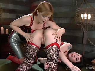 Amazing lesbian Charlotte Sartre gets her pussy licked and pleased