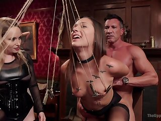 Bondage experience together relating to a group fianc� is memorable relating to Aiden Starr