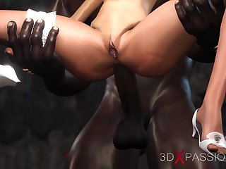 Young one of a pair dreams of being fucked by a big black cock at a connubial