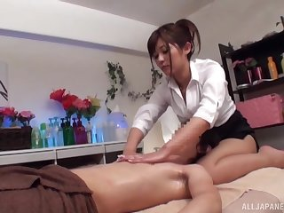 Amateur Japanese darling sucks a dick and gets fucked deep