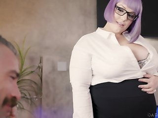 Female queen Alexxxis Appeal bends her in favour employee secure her sex slave