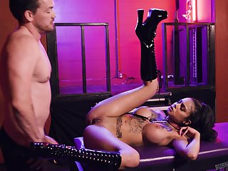 Trained whore fucked and jizzed in misapplied XXX cam scenes
