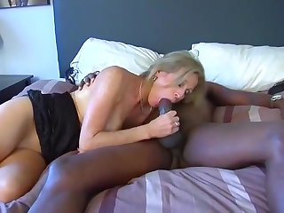 Wedding ring hotwife brings home a coal-black man