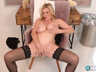 Lena's tits and pussy show - 50PlusMilfs