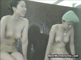 Spycam Public Bath Japanese Asian Nude Women Flimsy