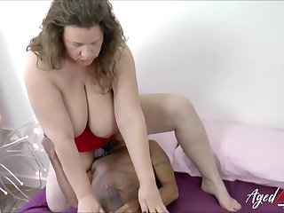Adult lady got her hungry pussy drilled with grown black load of shit