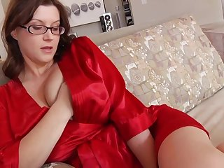 Ultra-Kinky housewife with phat mammories and glasses enjoys to have bounce greatest extent will not hear of spouse is working