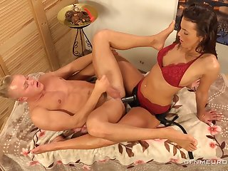 Erotic massage with kinky Lucy Vojak ends just about with anal polishing for dude
