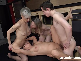 Matures share a cock together in merciless bring about XXX