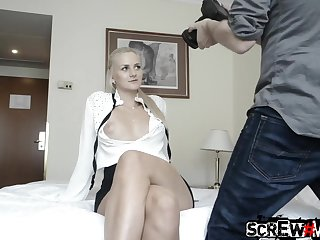 Blonde nearby yummy pussy Zdenka gives a blowjob and gets screwed
