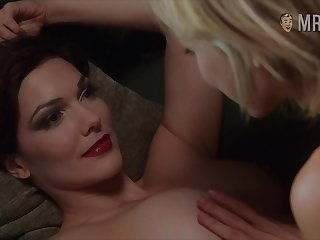 The man god Laura Harring enjoying some steamy sapphic fun on the day-bed
