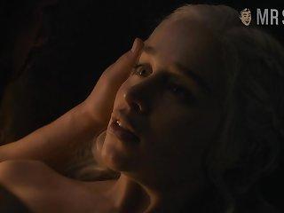 Jon Snow's butt and naked Emilia Clarke